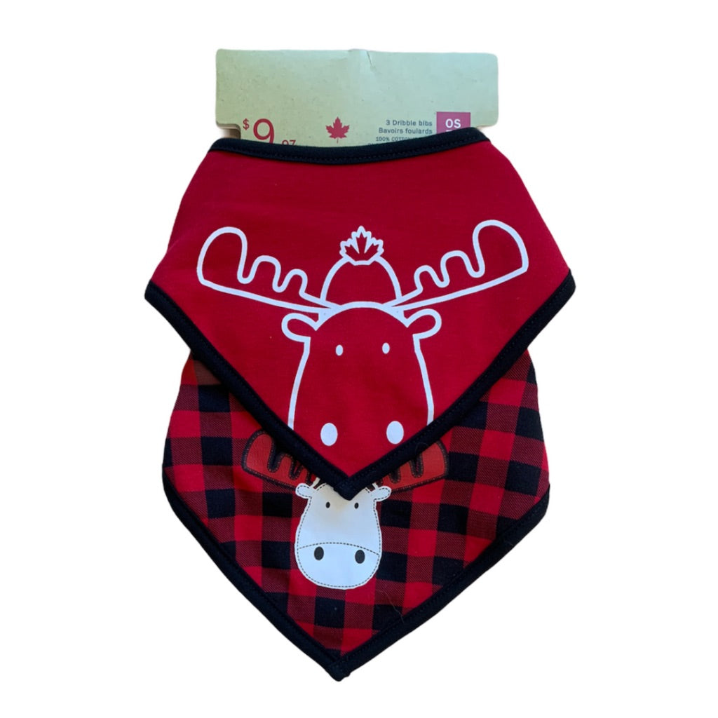 Red  Canadiana  Bibs