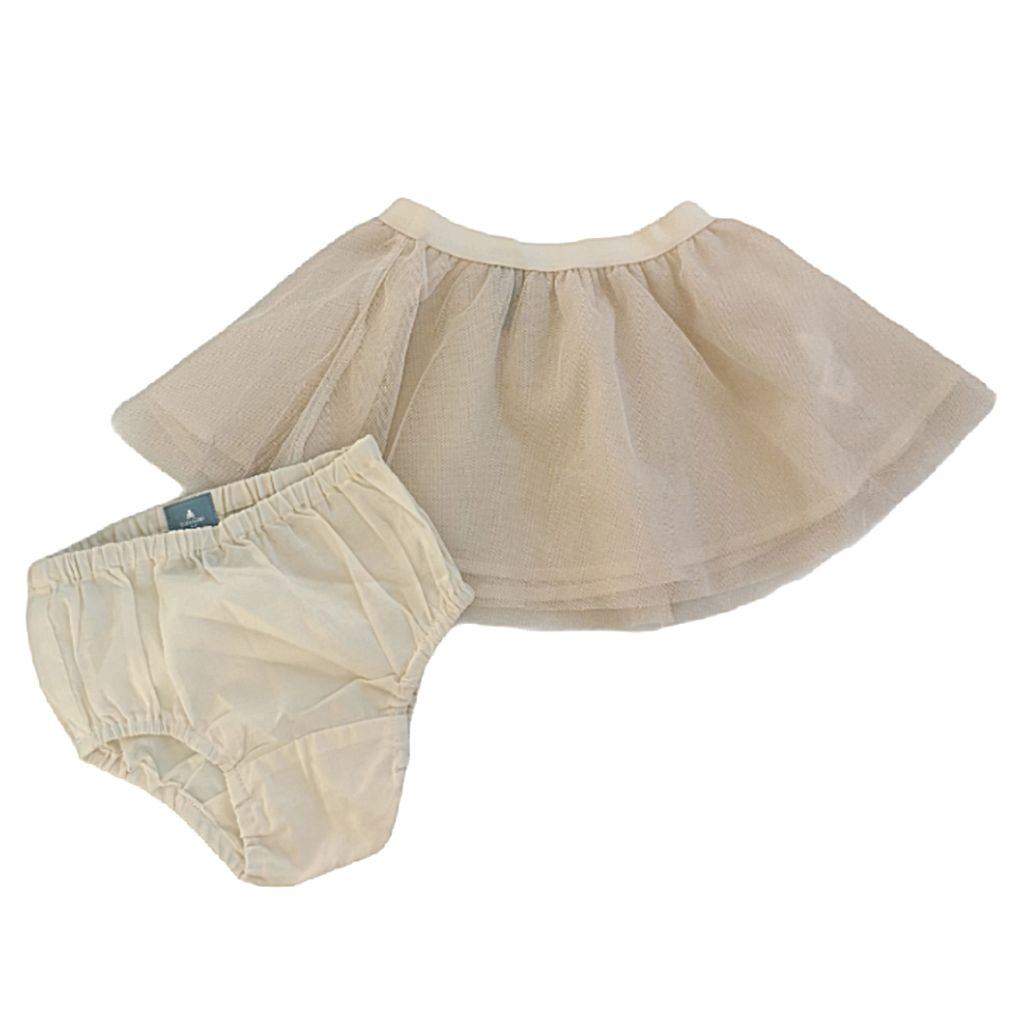 Cream Gap Skirt, 6-12 Months