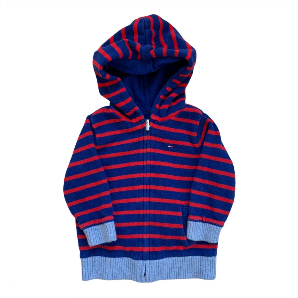 Red Tommy Hilfiger Reversible Zip-up, 12-18 Months