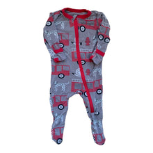 Load image into Gallery viewer, Grey KicKee Pants Sleeper, 0-3 Months