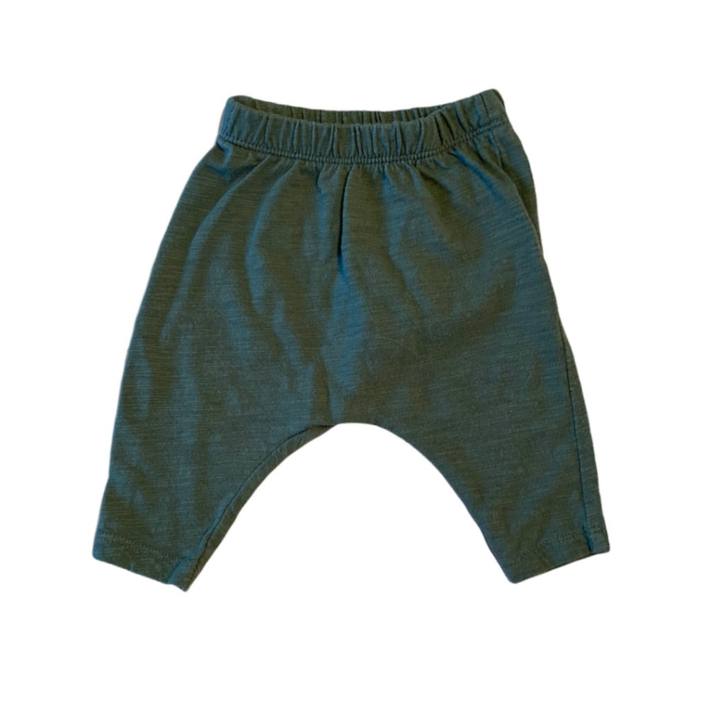 Green Old Navy Harem Pants, 0-3 Months