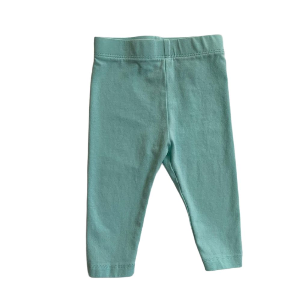 Teal Joe Fresh Leggings, 3-6 Months