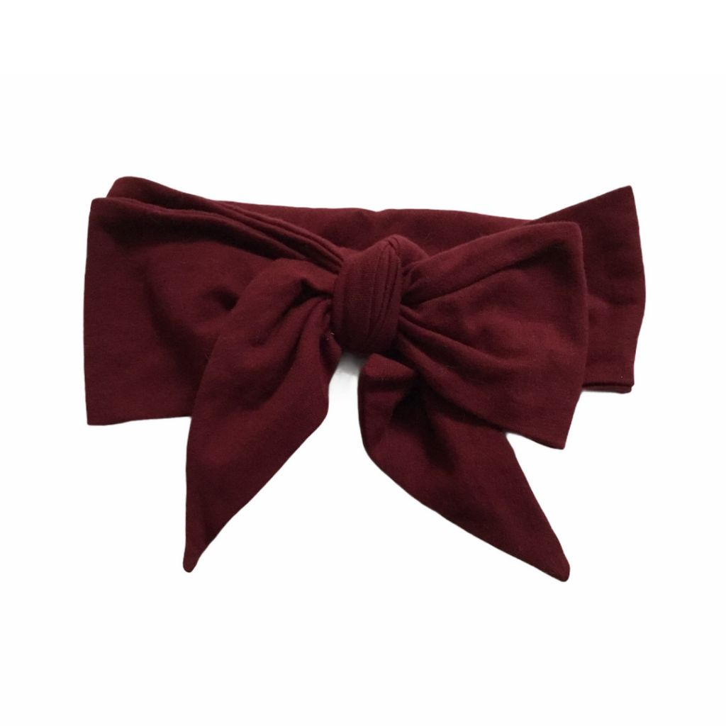 Burgundy Little James Grey Headband, 0-12 Months