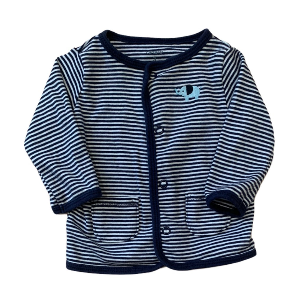 Striped  Carters Cardigan, 3 Months