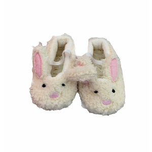Cream Olivia Rose Slippers, 0-6 Months