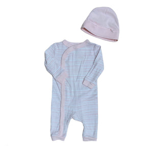 Light Pink Joe Fresh  Sleeper & Hat, 0-3 Months