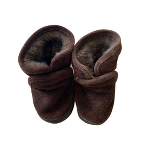Brown  Robeez Booties, 0-6 Months