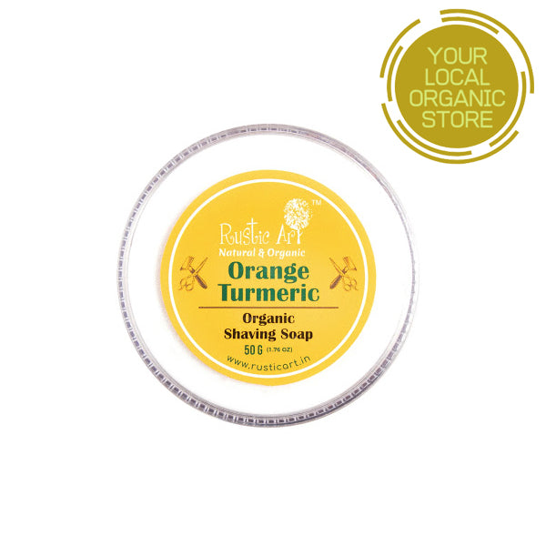 Rustic Art Orange Turmeric Shaving Soap
