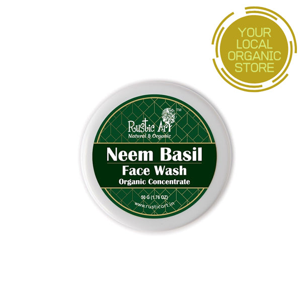 Rustic Art Organic Neem Basil Face Wash Concentrate