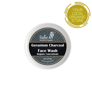 Rustic Art Organic Geranium Charcoal Face Wash Concentrate