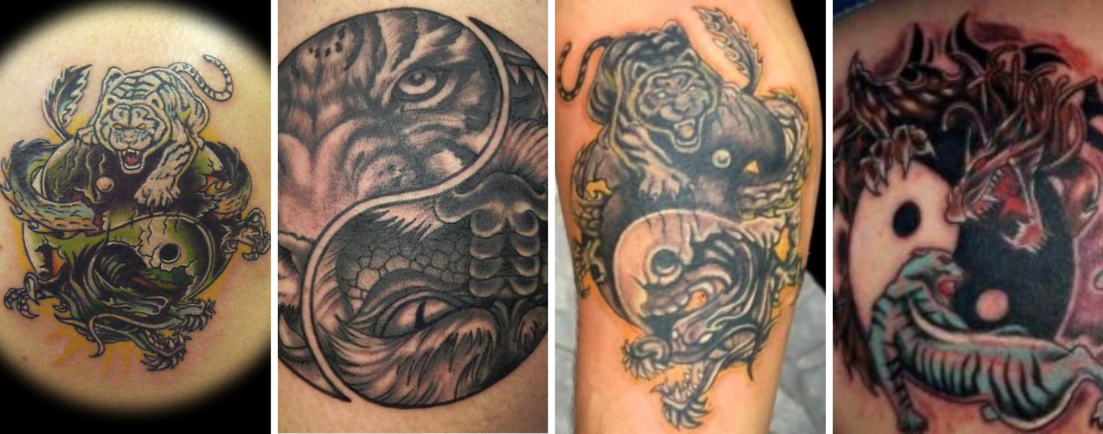 yin yang tiger dragon tattoo ideas