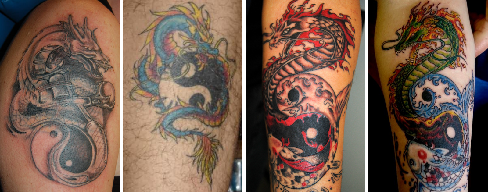 yin yang dragon tattoo designs