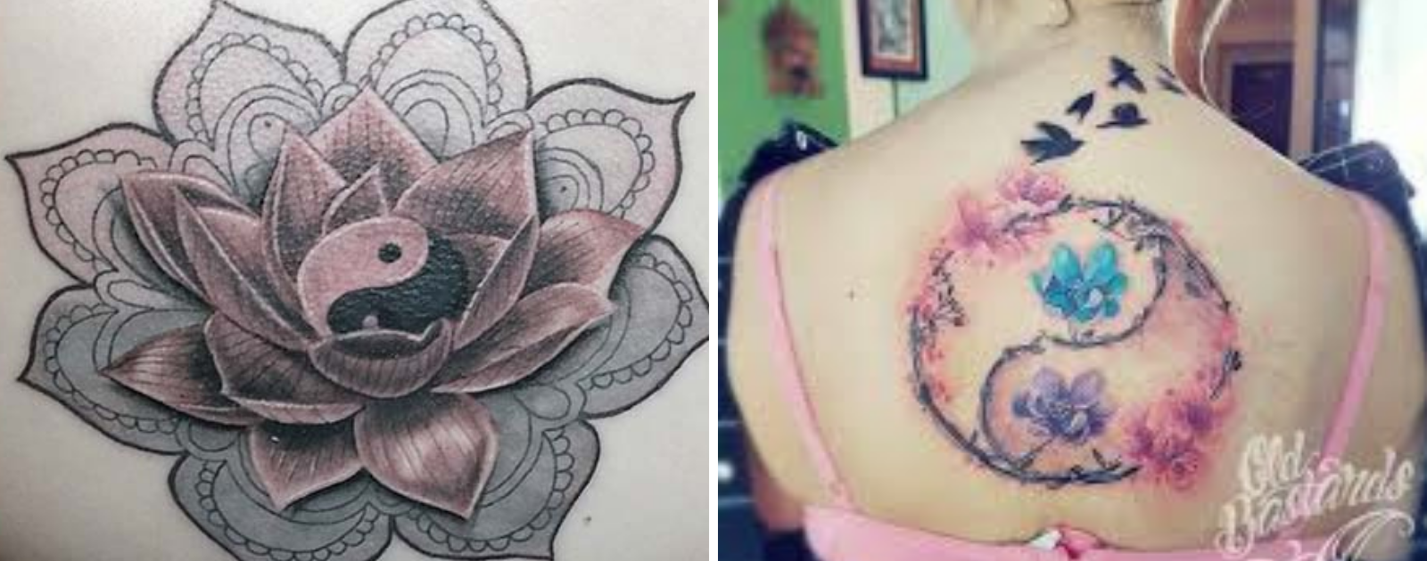 lotus flower yin yang tattoo