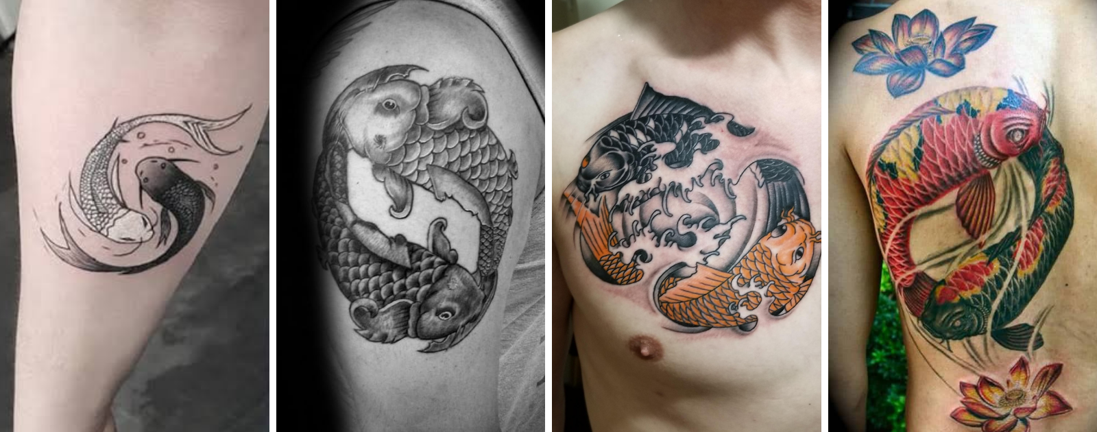 carpe koi yin yang tattoo