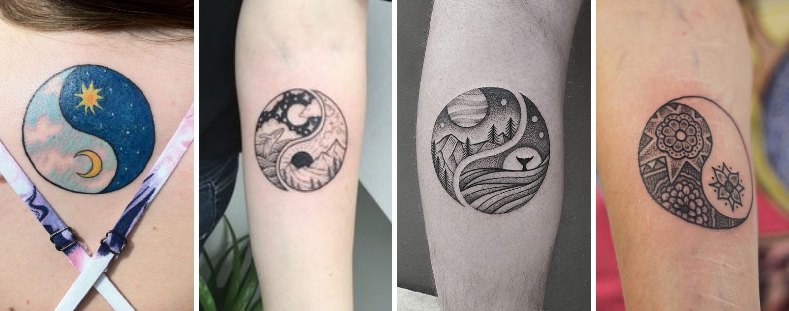 sun moon yin yang tattoo designs