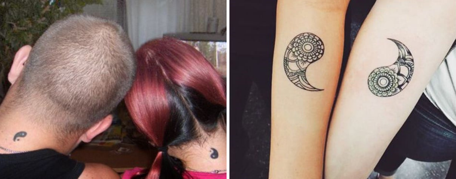 yin yang tattoo best friends