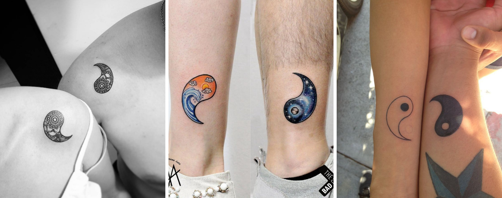 yin yang symbol tattoo for couple