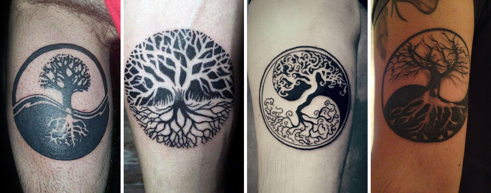 yin yang tree of life tattoo