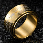 yin yang taoist golden ring