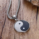 yin and yang necklace steel