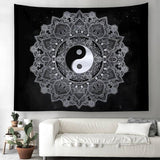 Black and White Yin Yang Tapestry home decor
