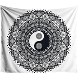 tapestry black and white yinyang