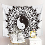 Yin Yang Tapestry Black and White home decor