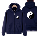 hoodie with yin yang navy