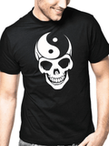 skull and bones yin yang mens tee shirt