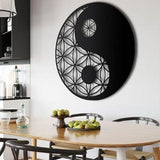 yin and yang metal wall art