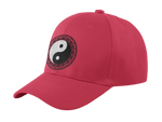 yin yang baseball cap red