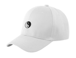 yin yang dad hat white