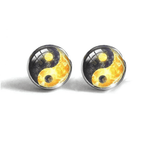 yin yang earrings fire