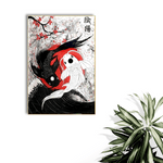 yin yank koi fish painting