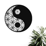 Yin Yang Metal Wall Art