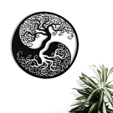 Yin Yang Tree of Life Metal Art