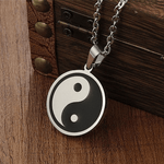stainless steel yin yang pendant