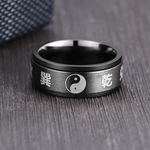 yin yang black spin ring