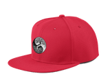 yin yang tree cap red