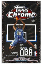 Load image into Gallery viewer, 2003-04 Topps Chrome Basketball Sealed Hobby Box • LeBron RC