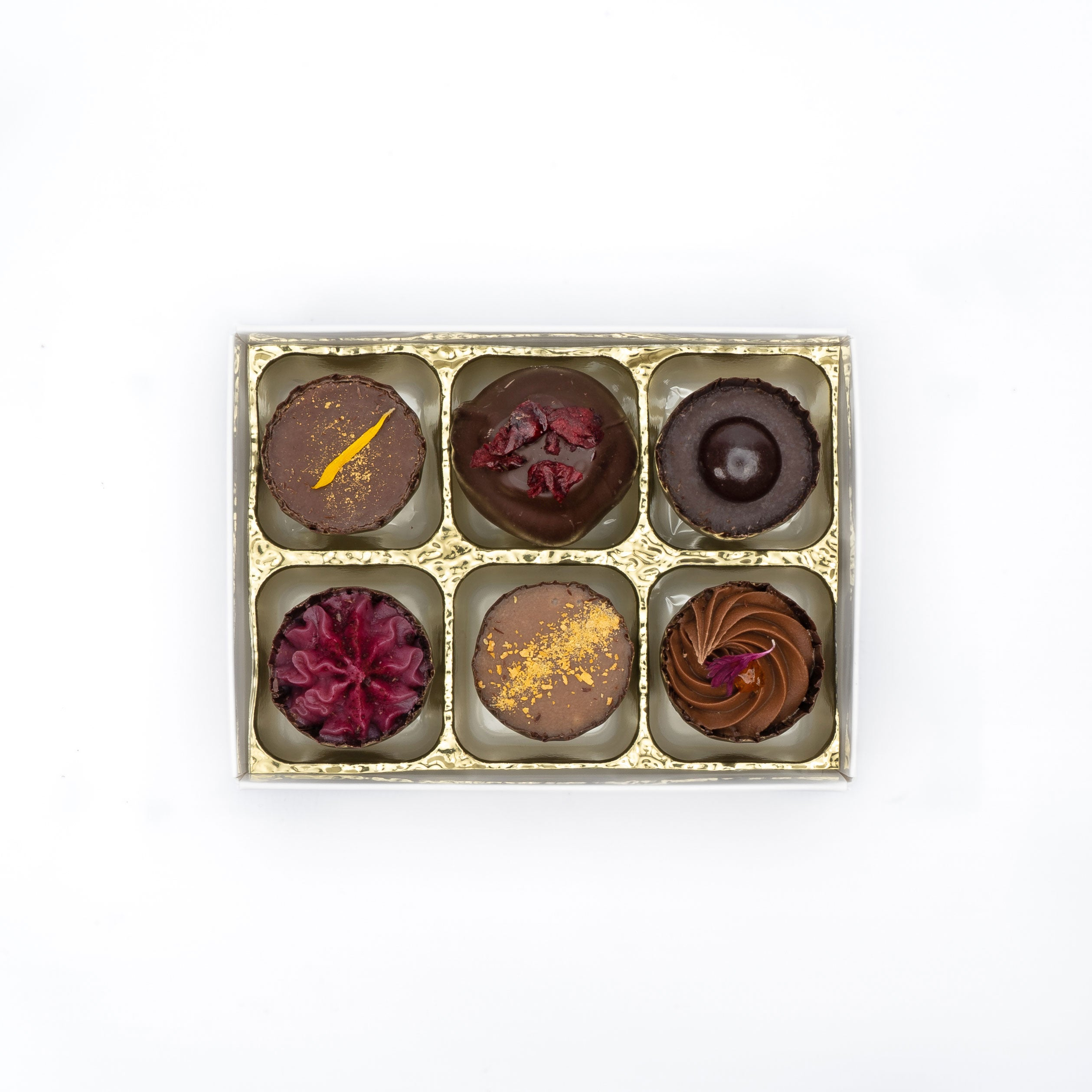 Artisan Dark Chocolate - Box of 6 - by Misco's Chocolates