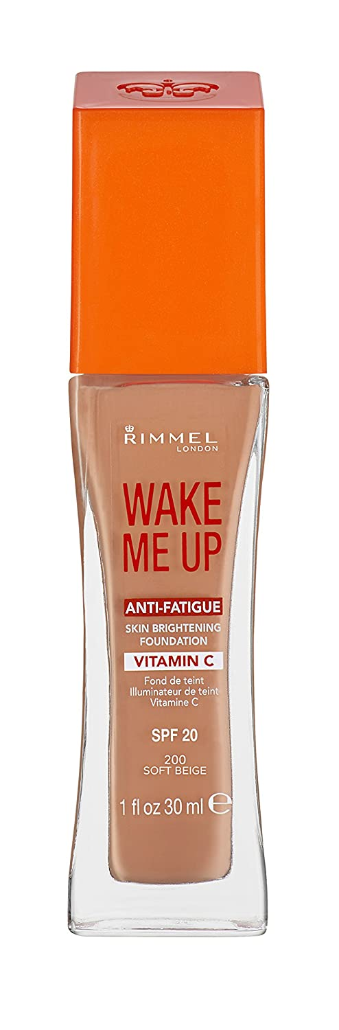 Rimmel London 30Ml Wake Me Up Anti-Fatigue Foundation 200 Soft Beige Spf20