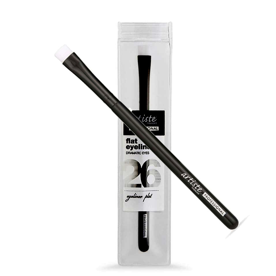 Artiste Manicare Professional Flat Eyeliner Brush Dramatic Eyes 26