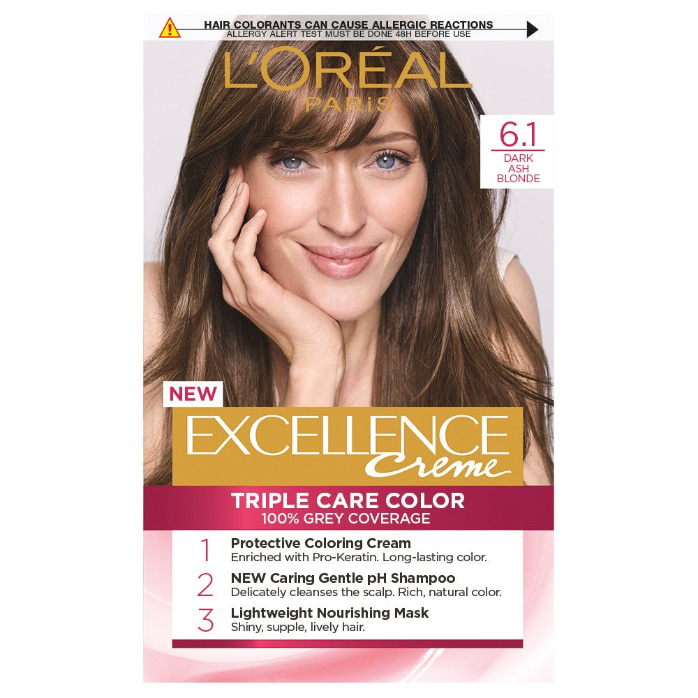 L'Oreal Excellence Creme Hair Colour 6.1 Light Ash Brown