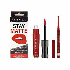 Rimmel London Stay Matte Liquid Lipstick + Liner Kit 024 Red Diva