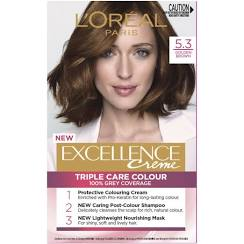 LOreal Excellence Creme Hair Colour 5.3 Golden Brown
