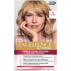L0Oreal Excellence Creme Hair Colour 8 Blonde