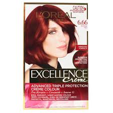 L0Oreal Excellence Creme Hair Colour 6.66 Intense Red