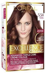 L0Oreal Excellence Creme Hair Colour 5.54 Auburn