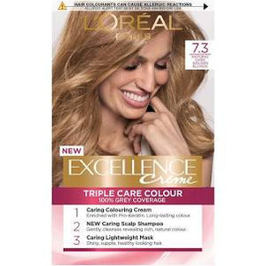 L'Oreal Excellence Creme Hair Colour 7.3 Dark Golden Blonde